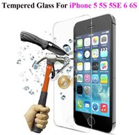 Wholesale iphone 5s glass sale online - For Iphone Tempered Glass Film For Iphone X S Plus S Touch Screen Protector H Anti Scratch D MM Guard Film Hot Sale