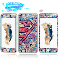 Superman Skin Iphone Pas Cher-Verre trempé 3D Superman Cartoon Protecteur d'écran Premium Front Back Skull Hello Kitty Girl Boy Pour Iphone 6 6S Plus 4.7 5.5 Skin Package
