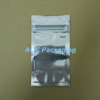"Wholesale Wholesale Aluminum Ziplock Packaging - 7*13cm (2.8*5.1"") Aluminum Foil   Clear Resealable Valve Zipper Plastic Retail Packaging Pack Bag Zip Lock Ziplock Bag Retail Package"
