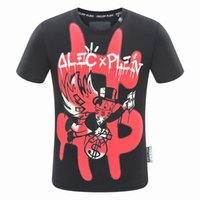 Wholesale Mens Round Neck T Shirt - Mens tshirt 2018 summer strip print men's t-shirt round neck tshirt luxury t-shirt