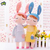 ingrosso conigli giocattoli per neonati-Kawaii farcito peluche animali cartoon bambini giocattoli per ragazze bambini baby compleanno regalo di natale Angela Rabbit Girl Metoo Doll