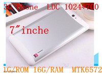 Wholesale gps phablet tablet - 1GB GB Dual SIM G Tablet PC MTK6572 Core Inch Bluetooth GPS Phablet Phone call Tablet Pc
