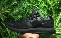 Wholesale Door Trainer - Pure Boost Y3 Core Black Sneaker Mens Out Door Sports Running shoes High Quality Trainer size 40-46