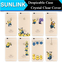 Wholesale Cover Minion Iphone - 16 Kinds Despicable Me 2 Cute Minions Cartoon Soft Case Cyrstal Clear Transparent TPU Back Cover for iPhone 5 5S se 6 Plus 6plus