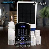 HOMSECUR Wireless WCDMA 3G Home Alarm System + Inalámbrico Solar Outdoor Flash Siren