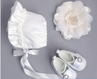 Wholesale sweet hats resale online - Sweet Princess Baby Girl Hat Summer Lace up Beanie beaded lace falbala Cotton Bonnet Enfant for M newborn white hats A00242