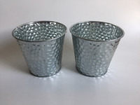 Wholesale Round Metal Tub - D13xH12CM(D5.2inch*H4.7inch) Round Galvanized Buckets metal Planter Flower Pots Iron Tub Rustic Flowerpots Series SF-026