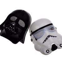 Wholesale Halloween Pvc Props - 2 Colors Darth Vader Imperial Warrior Mask Halloween Costume Theater Props Black White Star Wars Cheap Plastic Party Masks