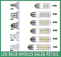 High Lumen LED Bulbe E27 24 36 48 56 69 72LEDs SMD 5730 Lampes LED 200 ~ 240V Lustre Spot