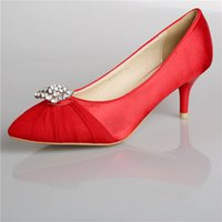Wholesale Ladies Beaded Shoes Black - In Stock Red White Black Wedding Dress Shoes Pointed Toe High Heels Women Lady Cocktail Evening Bridal Accessories 2015 Cheap Real Photos