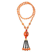Wholesale Red Rosary Necklace - tassel necklace bead dream catcher necklaces tibet mala pendant for women The beeswax jewelry Crystal necklace rosary chain SN013