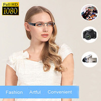 Wholesale Digital Camera Dc - SPY 1080p HD Digital Video Hidden Camera Eyewear DVR Camcorder Eyeglass USB 2.0 DC-5V Black
