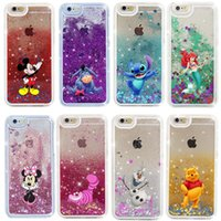 Wholesale Liquids Case - Cartoon Quicksand Liquid Glitter Bling Hard Phone Case For iPhone X 5 SE 6 6s 7 8 plus Samsung S6 S7 edge S8 plus