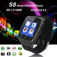 3G Smart Watch Handy ZGPAX S8 Android 4.4 Dual Core Armbanduhr Telefone Touchscreen Eingebaute GPS 5.0MP Kamera Unterstützung Wifi Bluetooth