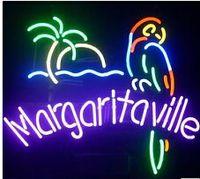 Wholesale margaritaville neon for sale - Group buy Margaritaville Palm tree Neon Sign Custom Handmade Real Glass Tube Beer Bar KTV Club PUB Store Motel Advertise Display Noen Signs quot X14 quot