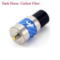 Wholesale Carbon Fiber For Heating - 2015 Carbon Fiber Dark Horse RDA for E Cigarette Blue Red Black Carbon Fiber Heat Insulation Rebuildable Dripping Atomzier CF Dark Horse RD