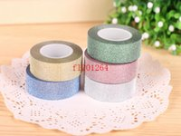 Wholesale Wholesale Shipping Tape China - Fedex DHL Free Shipping 10M Longth China wholesale Christmas Glitter DIY Tape 15mm Width ,500pcs lot