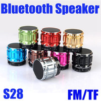Wholesale Mp4 High Sound - S28 Portable Bluetooth Speaker Wireless Super Bass Home Outdoor Stereo Sound Box With LED Light For MP3 MP4 High Quality MIS094