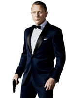 Wholesale Designer Suit Groom Men - 2016 Designer Wedding Groom Tuxedos Man Suit Slim Fit Groomsman Bridegroom Suits (Jacket+Pants+Tie+Vest) Wedding Party Suit