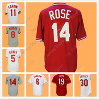 Wholesale Baseball Benches - Cincinnati Jerseys Johnny Bench Billy Hamilton Joe Morgan Barry Larkin Dave Concepcion Pete Rose Joey Votto Tony Perez Jersey Flexbase