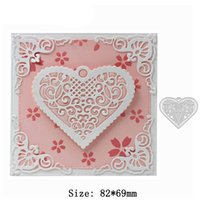 Wholesale Photo Album Heart - Heart Metal Cutting Dies Stencils for DIY Scrapbooking photo album Decorative Embossing DIY Paper Cards