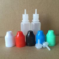 bouteille pour e cig achat en gros de-Bouteille à aiguilles colorée 5 ml 10 ml 15 ml 20 ml Flacons compte-gouttes mous avec des capsules pour enfants ENFANTS Stockez la plupart des gouttes pour les yeux liquides de vaporisateur E Vapor Cig