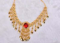 Wholesale Belly Dance Necklace Gold - Dance show belly dance Necklace
