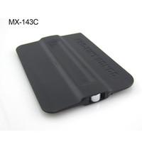 Wholesale Vinyl Card - 7*10cm Great Quality vinyl application tool solf magnetic Scraper, Black bondo card with magnet MX-143B