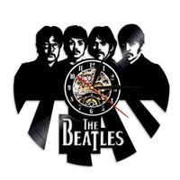 Wholesale Wall Sticker Beatles - The Beatles Best Gifts Fashion accessories Wall Art Black Vinyl Record Wall Clock Wall Sticker Home Decor Stickers Led Backlight Clock