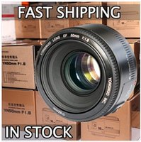 apertura de la lente al por mayor-¡En stock! Objetivo YONGNUO YN 50mm F1.8 lente de enfoque automático de apertura grande para Canon EOS 60D 70D 5D2 5D3 7D2 750D 650D 6D DSLR