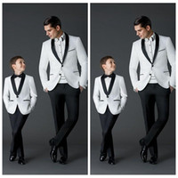 Wholesale Two For One Dress Suits - Custom Made 2016 New Fashion Groom Tuxedos Men's Wedding Dress Prom Suits Father And Boy Tuxedos (Jacket+Pants+Bow) Formal Wear For Men Boys