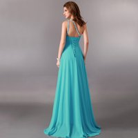 Wholesale Clothes Models Women Chiffon - Fashion Women Sexy Evening Party Dresses One-shoulder Sequin and Beaded A-line Long Prom Bridesmaid clothes Evening Dresses