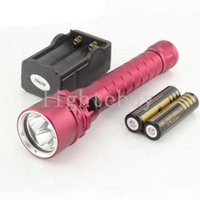 Wholesale diving flashlight xm for sale - Group buy 3x XML U2 L2 W lm LED Diving Flashlight Underwater Torch Light Waterproof with Battery charger