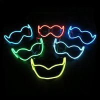 EL Luminous Color Mask Metade Face PVC Brilhante Flash LED Máscara Masquerade Ball Props Cosplay Máscara Decoração SD380 No Batteries
