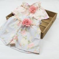 Wholesale Korean Fashion Wear For Summer - Korean Style Children Shorts Summer Girl Pure Cotton Denim Broken Flower Shorts Fashion Belt Children Hot Shorts For Summer Wear