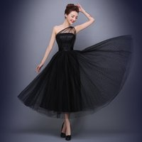 Wholesale Evening Dress Dot - vestido longo 2016 New Fashion Black One Shoulder Dots Sexy Evening Dress Bridal Banquet Elegant Homecoming Dress Plus Size Prom Party Dress