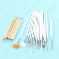 Wholesale Set of Nail Art Design Painting Dotting Pen Brushes Tool Kit Set Beauty Salon