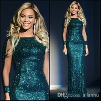 Wholesale Glittery Gold Dresses - free shipping new hot&sexy 2018 green beyonce glittery sequined special occasion vestidos party prom gown celebrity dresses