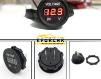 Auto Mtrocycle Gauge Volt Meters DC 12V-24V Moto LED Numérique Tension Voltmètre Voltage Meter Round Panel
