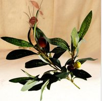 Wholesale olive branches for sale - Group buy Artificial plants three branches of the olive branch with fruits about cm long suit for home and garden decoration AP004