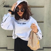Frauen Stickerei Brief Sweatshirts Batwaing Sleeve Short Fashion Streetwear Frauen Frühling Herbst Mit Kapuze Pullover Weibliche Hoodies