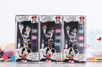 Wholesale Earphone Cute Cartoon - Cartoon earphones in-ear Donald Duck Mickey Minnie Children Headphones cute earphone headphones for mp3mp4 Cellphone mix order,Free Shipping