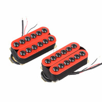 Wholesale fender style guitars for sale - Group buy Set of Ceramic Magnet Invader Style Guitar Humbucker Pickup Bridge Neck Red