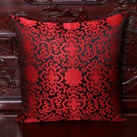 Wholesale Elegant Cushions - Luxury Elegant Dobby Cushion Covers for Chairs Sofas Car Decorative Chinese style High End Silk Brocade double Pattern Rustic Pillow Cover