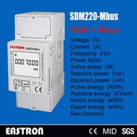 Wholesale single phases resale online - SDM220 Mbus A V V Hz Hz single phase KWH Watt hour power energy meter with Modbus RTU CE approved