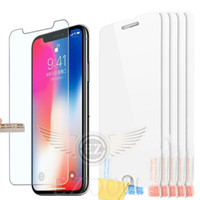 Wholesale Huawei S7 Screen - For Iphone X 8 7plus Tempered Glass Screen Protector Anti-fingerprint For Samsung S7 Huawei MOTO LG HTC OPPO XIAOMI Film (No package)