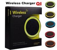 mini carregadores de telemóveis venda por atacado-30 pcs S6 Qi Carregador Sem Fio Telefone Celular Mini Charge Pad Para dispositivo Qi-abled Samsung nokia htc LG celular com pacote de varejo JE13