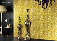Wholesale Metallic Mosaic Tile Backsplash - Shinning metal mosaic metallic glaze surface mosaic tiles wall mounted mosaic pattern 12x12inch backsplash TV background building tiles
