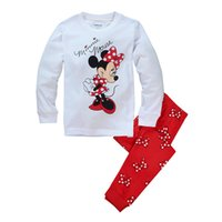 Wholesale Micky Mouse Clothes - Micky Mouse Kids Pajamas Girls Sets Long Sleeve For Boys Set Foy Girls Children Clothing Sport Sets Two Pieces 2016 New Autumn