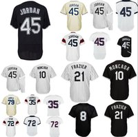Wholesale White Sox Baseball Jersey Xl - Men's White Sox Jersey 45 Jordan 21 Todd Frazier 10 Yoan Moncada 79 Michael Jose Abreu 35 Frank Thomas 72 Carlton Fisk 8 Bo Jackson